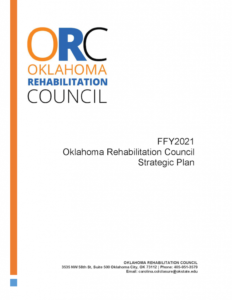FFY 2021 Oklahoma Rehabilitation Council Strategic Plan